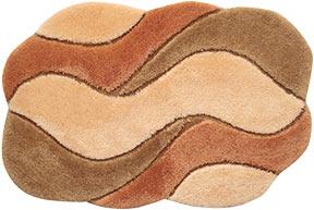Акриловые коврики для ванной комнаты и туалета фото цвет: 4053 - абрикосовый