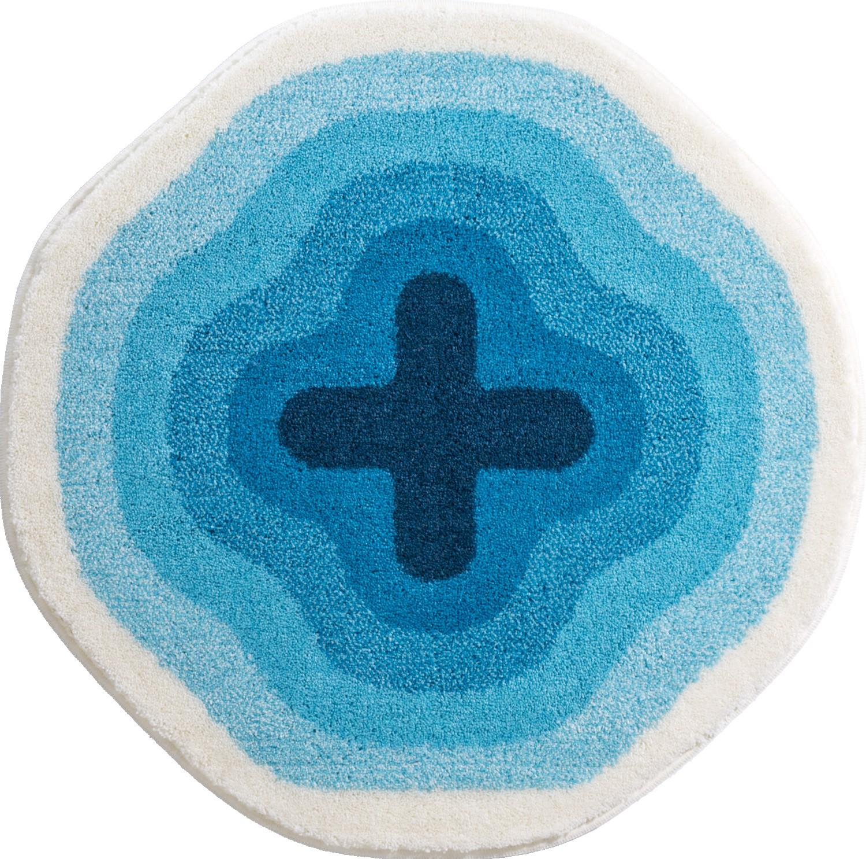 Коврики для ванной     KARIM 03,             синий