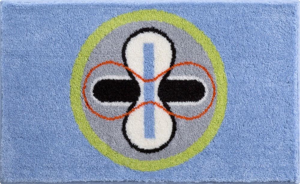 Коврики для ванной     KARIM 01,             синий